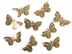 Confeti fluturi, Auriu foto