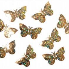 Confeti fluturi, Auriu - Decoratiuni nunta