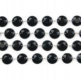 Ghirlanda cristale, negru, 1m