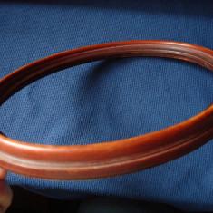 Rama ovala din lemn, veche, pentru foto, grafica sau tablou - Rama Tablou