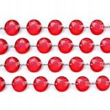 Ghirlanda cristale, rosu, 1m - Decoratiuni nunta