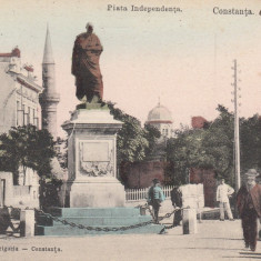 CONSTANTA, PIATA INDEPENDENTEI, CIRCULATA AUG, ''06 - Carte Postala Dobrogea pana la 1904, Printata