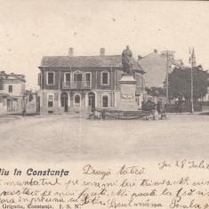 CONSTANTA, PIATA OVIDIU, CIRCULATA AUG.''05 - Carte Postala Dobrogea pana la 1904, Printata
