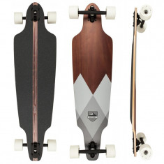 "Longboard D STREET Drop Through Geo Grey 38""/96.5cm - Skateboard"