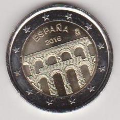 2 euro comemorativa SPANIA 2016-Segovia, UNC, Europa, Cupru-Nichel
