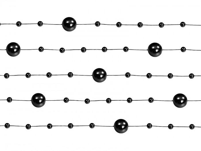 Ghirlanda perle, negru, 5buc/set