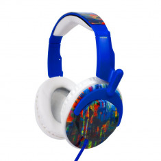 Casti Generic 140237, Over Ear Koss RUK 50, tip DJ, albastru, Casti Over Ear, Cu fir, Mufa 3, 5mm, Active Noise Cancelling