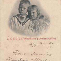 REGALITATE ROMANIA A.A.L.L.R.R.PRINCIPELE CAROL SI PRINCIPESA ELISABETA NOV.'01 - Carte postala tematica, Circulata, Printata
