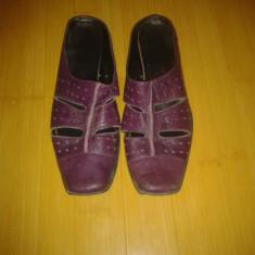 Papuci piele - Papuci dama, Culoare: Din imagine, Marime: 36