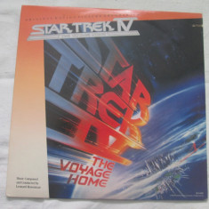 Leonard Rosenman ‎– Star Trek IV: The Voyage Home:Soundtrack _ vinyl(LP) SUA - Muzica soundtrack Altele, VINIL