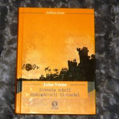 Jules Verne - Invazia marii - Spargatorii Blocadei - cop.groase-2+1 gratis - CA2 - Roman, Humanitas