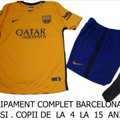 ECHIPAMENT FOTBAL COPII 4/6 ANI, BARCELONA-MESSI, LIVRARE GRATUITA - Set echipament fotbal Nike, Marime: S