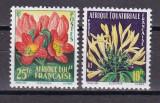 Africa  Ecuatoriala Franceza  1958  flori  MI 310-11   MNH  w27, Nestampilat