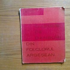 CULEGERE DE DANSURI DIN FOLCLORUL ARGESEAN - Marin Badea, Leonte Socaciu - 1973 - Carte Arta dansului