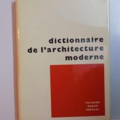 DICTIONNAIRE DE L'ARCHITECTURE MODERNE de FERNAND HAZAN, 1964 - Carte Arhitectura