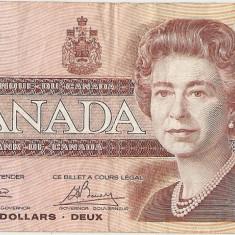 Canada 2 Dollar Dolari 1986 F - bancnota america