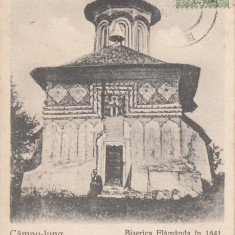 CAMPULUNG, CAMPU - LUNG BISERICA FLAMANDA IN 1841, CIRCULATA - Carte Postala Muntenia pana la 1904, Printata