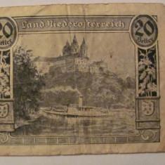 CY - 20 heller 1920 Austria Land Niederosterreich (1) notgeld