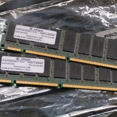Vand Memorie SDRam 2x 512 Mb Pc 133 - Memorie RAM Infineon, 1 GB, Dual channel