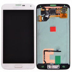 Ansamblu Lcd Display Touchscreen touch screen Samsung Galaxy S5 I9600 White Alb ORIGINAL - Display LCD