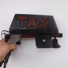 Reclama pentru Taxi, veche cu sistem de fixare si iluminare.Reducere! - Reclama Tiparita