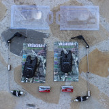 Set 2 Avertizori Vasakura Senzori CrapRO Cu mufa Jack + 2 Swingeri Iluminare - Avertizor pescuit, Electronice