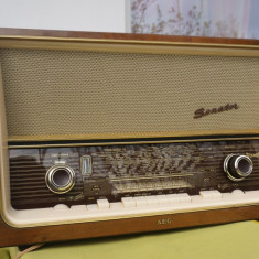 Radio cu lampi AEG Senator super stereo - Aparat radio, Analog
