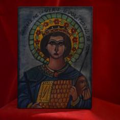 Icoana pe lemn pictata manual - Sfantul Dimitrie Izvoratorul de Mir -18X13cm #13