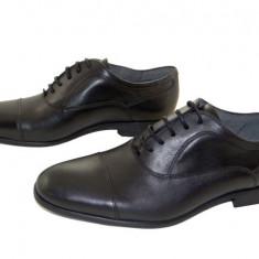Pantofi barbati eleganti piele naturala Denis-2597 n, Marime: 40, 41, 42, 43, 44, 45, Culoare: Negru, Negru