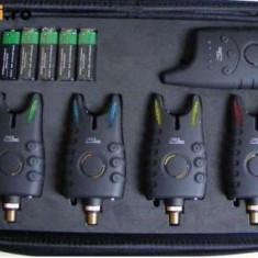 Set 4 Senzori FL avertizori + Statie model 2015 - Avertizor pescuit