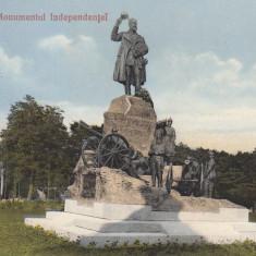 CRAIOVA, MONUMENTUL INDEPENDENTEI, CIRCULATA - Carte Postala Oltenia 1904-1918, Printata