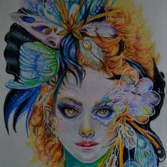 Desen in creioane colorate Prismacolor, portret A4, Bissinger Antoniu 2015 #6