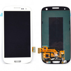 Ansamblu Lcd Display Touchscreen touch screen Samsung Galaxy S3 I9305 White Alb cu rama ORIGINAL - Display LCD
