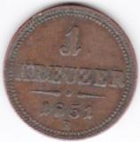 Austria,Ungaria,1 kreuzer 1851 B Kormoczbznya Kremnicz (Slovacia), Europa