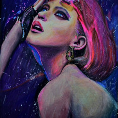 Desen in creioane colorate Prismacolor, portret A4 de Bissinger Antoniu 2015 #18