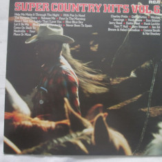 Various ‎– Super Country Hits Vol. 6 _ vinyl(LP) Germania - Muzica Country rca records, VINIL