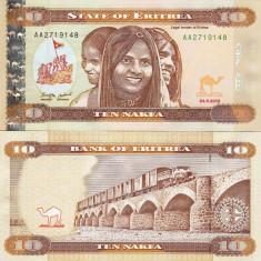 ERITREA 10 nakfa 2012 UNC!!! - bancnota africa