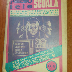 Revista tele- radio scoala nr. 6-8 1972 - Revista casa