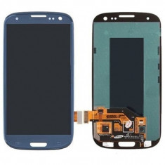 Ansamblu Lcd Display Touchscreen touch screen Samsung Galaxy S3 I9305 Blue Albastru cu rama ORIGINAL - Display LCD