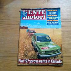 GENTE MOTORI * Anno VI, No.10, Ottobre 1977, 177 p.; lb. italiana - Revista auto
