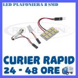 BEC AUTO LED LEDURI PLACUTA PLAFONIERA - 8 SMD - SOFIT FESTOON C5W C10W T10 W5W, Universal, ZDM