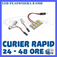 BEC AUTO LED LEDURI PLACUTA PLAFONIERA - 8 SMD - SOFIT FESTOON C5W C10W T10 W5W