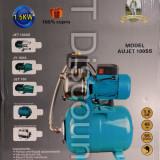 Hidrofor din INOX AUJET100SS 1500 W 100% bobinaj cupru vas 24L - Pompa gradina, Pompe de suprafata