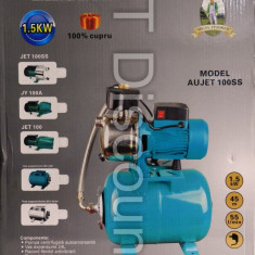 Hidrofor din INOX AUJET100SS 1500 W 100% bobinaj cupru vas 24L