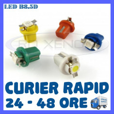 LED LEDURI BORD INTERIOR B8.5D - 1 SMD 5050 - ALB, ALBASTRU, VERDE, ROSU, GALBEN, Universal, ZDM