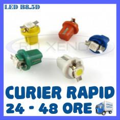 LED LEDURI BORD INTERIOR B8.5D - 1 SMD 5050 - ALB, ALBASTRU, VERDE, ROSU, GALBEN - Led auto ZDM, Universal