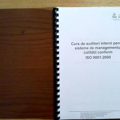 CURS DE AUDITORI INTERNI pentru SISTEME DE MANAGEMENTUL CALITAII ISO 9001:2000 - Carte Management