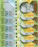 VENEZUELA lot 5 buc. X 50 bolivares 2009 UNC!!!