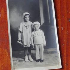 Fotografie veche - portret de copii !!!, Alb-Negru, Europa