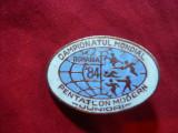Insigna Campion Mondial Pentatlon Modern Juniori 1984